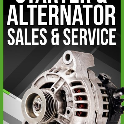 Starters, Alternators & Other Automotive Services